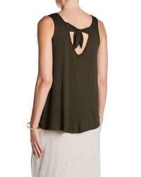 Bobeau - Green Knit Tie Back Tank - Lyst