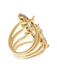 Rebecca Minkoff - Blue Multi Stone Wrap Ring - Lyst