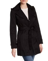Via Spiga | Black Hooded Trench Coat | Lyst