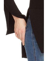 Free People - Black Crisscross Sweater - Lyst