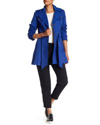 Via Spiga | Blue Detachable Hood Trench Coat | Lyst