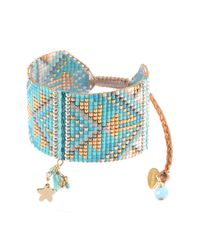 Mishky - Blue Macui Tassel Beaded Slide Cuff Bracelet - Lyst