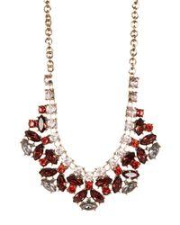Joe Fresh | Multicolor Burgundy Crystal Detail Necklace | Lyst