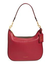 Marc Jacobs - Red Gotham Pebbled Leather Hobo Bag - Lyst