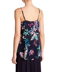 Joe Fresh - Blue Patterned Tank Top - Lyst