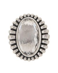 Lagos - Metallic Sterling Silver Crystal Fluted Ring - Size 7 - Lyst