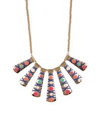 Carolee - Multicolor Graduated Plate Frontal Necklace - Lyst