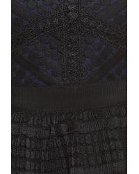 Chelsea28 - Black Lace Fit & Flare Dress - Lyst