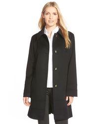 Fleurette - Black Wool Spread Collar Coat (petite) - Lyst