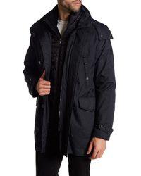 Tumi - Black 3-in-1 Travel Faux Fur Trim Parka for Men - Lyst