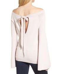Chelsea28 - Pink Flare Sleeve Sweater - Lyst