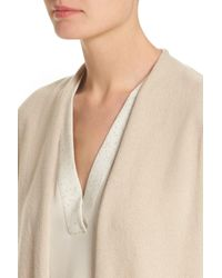 Lafayette 148 New York - Natural Cashmere Cardigan - Lyst