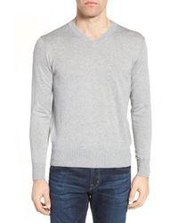 Jeremy Argyle Nyc | Gray V-neck Sweater for Men | Lyst