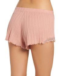 Skin - Pink Ribbed Shorts - Lyst