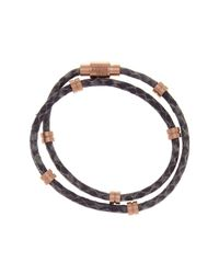 Steve Madden - Multicolor Snake Print Wraparound Leather Bracelet - Lyst
