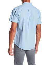 Obey - Blue Paradise Short Sleeve Regular Fit Shirt for Men - Lyst