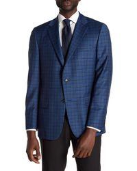 Hickey Freeman - Blue Glenplaid Two Button Notch Lapel Wool Sport Coat for Men - Lyst