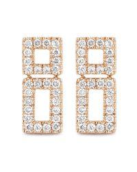 Dana Rebecca - Metallic 14k Rose Gold Diamond Accented Allison Joy Bar Earrings - 0.21 Ctw - Lyst