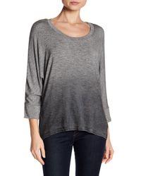 Splendid - Gray Dolman Sleeve Ombre Shirt - Lyst