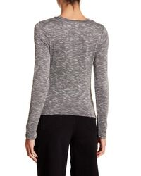 Love, Fire - Gray Long Sleeve Twist Front Tee - Lyst