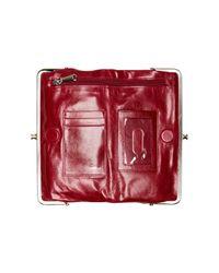 Hobo - Red Lauren Leather Clutch Wallet - Lyst