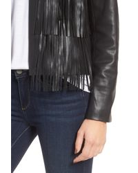 Trouvé - Black Fringe Faux Leather Jacket - Lyst