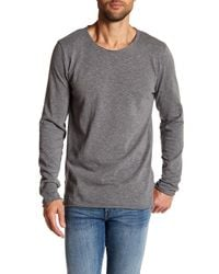 Threads For Thought - Gray Charleston Jersey Slub Long Sleeve Tee for Men - Lyst
