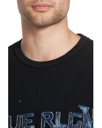 True Religion   Black Denim Applique Logo T-shirt for Men   Lyst