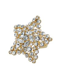 Kate Spade - Metallic Bright Star Embellished Ring - Lyst