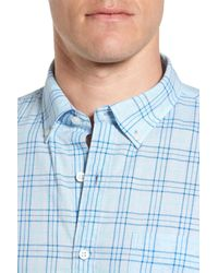 Bonobos - Blue Slim Fit Plaid Sport Shirt for Men - Lyst