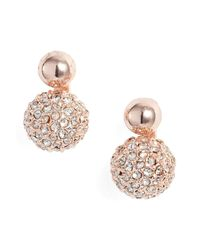 Rebecca Minkoff - Multicolor Mini Double Sphere Stud Earrings - Lyst