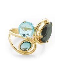 Ippolita - Metallic Rock Candy 18k Yellow Gold Prong & Bezel Set Stone Squiggle Ring - Size 7 - Lyst
