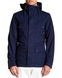 Brooks Brothers - Blue Layer Hooded Zip-up Jacket for Men - Lyst