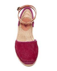 UGG - Pink Libbi Genuine Calf Hair Ankle Strap Espadrille - Lyst