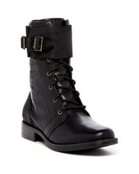 UGG | Black Maaverik Genuine Shearling Lined Combat Boot | Lyst