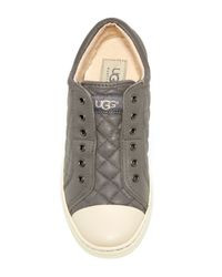 UGG - Gray Jemma Quilted Sneaker - Lyst