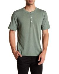 Billy Reid | Green Hunter Henley Tee for Men | Lyst