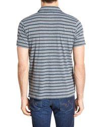 Billy Reid | Blue 'pensacola' Stripe Polo for Men | Lyst
