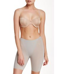 Spanx | Gray Mid Thigh Short | Lyst