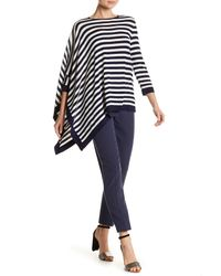 Anne Klein - Multicolor Asymmetrical Striped Sweater - Lyst