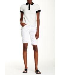 J Brand - White Beau Bermuda Short - Lyst