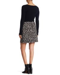 Sanctuary | Black Classic Pull On Leopard Print Skirt | Lyst
