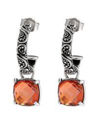 Lori Bonn - Orange True Colors Sunny Side Drop Hoop Earrings - Lyst