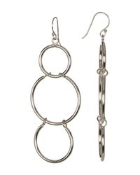 Argento Vivo | Metallic Sterling Silver Open Link Drop Earrings | Lyst