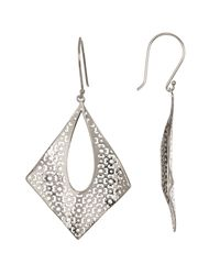 Argento Vivo - Metallic Sterling Silver Concave Filigree Drop Earrings - Lyst