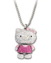 Swarovski - Multicolor Crystal Hello Kitty Pendant Necklace - Lyst