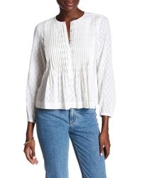Rebecca Taylor | White 3/4 Length Sleeve Dobby Blouse | Lyst