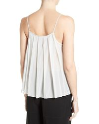 Elizabeth and James | White Posie Pleat Back Camisole | Lyst