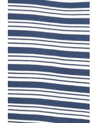 Chloe & Katie   Blue Stripe Long Sleeve Crop Tee   Lyst