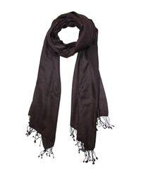 Saachi - Black Luxurious Cashmere Blend Wrap - Lyst